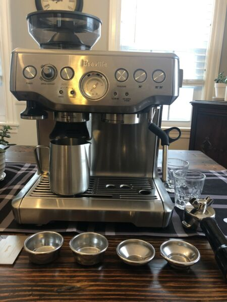 Breville Barista Express model BES870XL plus Two Gibraltar Cups