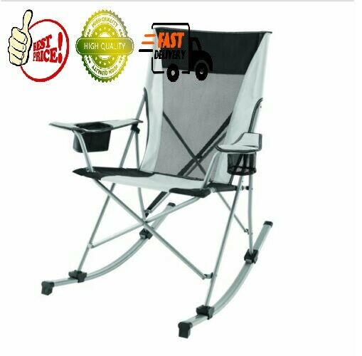 Rocking Chair Outdoor Camping Foldable Seat Cup Phone Holder