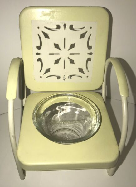 Decorative Chair Votive candle holder Metal and Glass