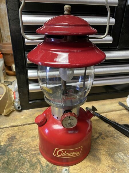 Vintage Coleman Single Mantle Red Lantern 8 71 200A Amazing Condition Works