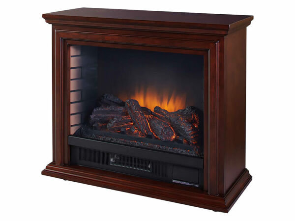 Pleasant Hearth Sheridan Free Standing Mobile Infrared Electric Fireplace