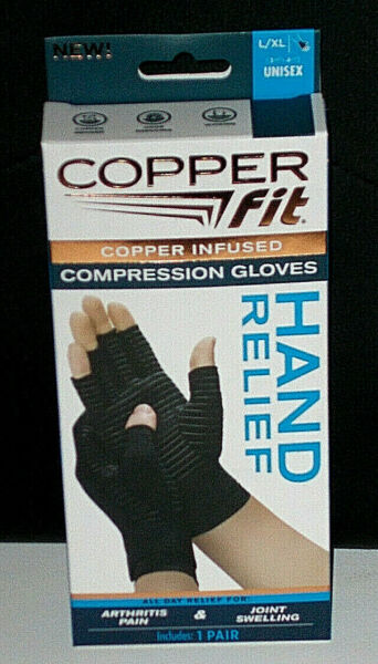Copper Fit Hand Relief Compression Gloves New size L XL