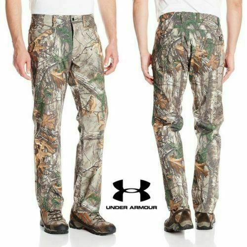 Under Armour UA Storm1 1279730 Pants REALTREE HUNTING CAMO 36 32 Cargo zipper