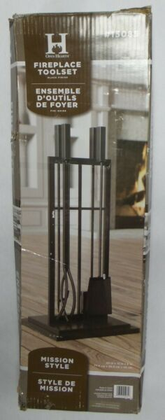 Panacea Products Open Hearth 5 Piece Fireplace Tool Set #15085 Mission Style