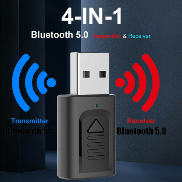 Wireless USB Bluetooth 5.0 Audio Transmitter Receiver 4in1 Adapter For TV PC Car $7.19