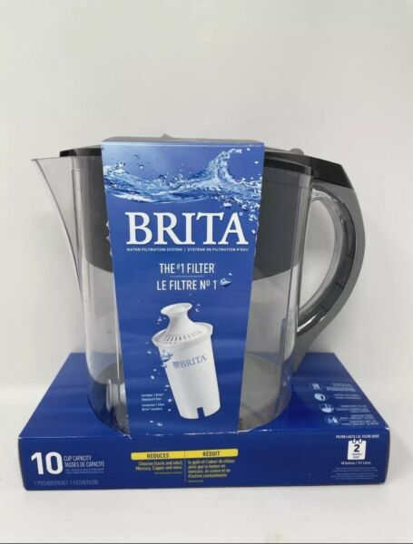 Brita Water Filter Pitcher 10 cup grand water pitcher with 1 filter
