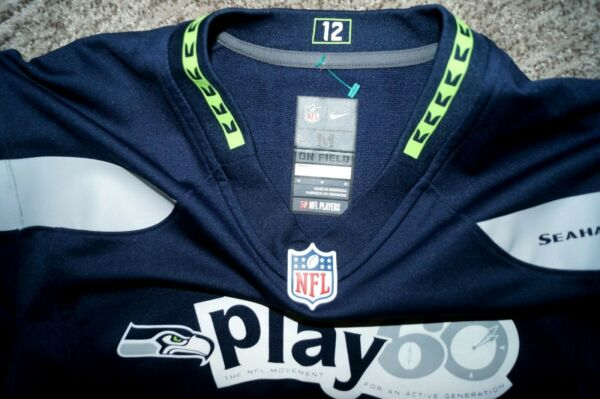 RARE Nike Punt Pass amp; Kick SEATTLE SEAHAWKS Jersey On Field Play 60 Medium