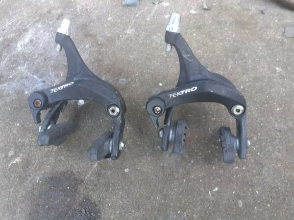 TEKTRO R312S BRAKES FRONT AND REAR IN BLACK RACING BIKE GBP 15.00