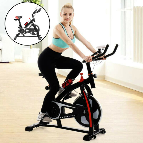 Exercise Bicycle Indoor Bike Cycling Cardio Adjustable Gym Workout Fitness Home $122.89