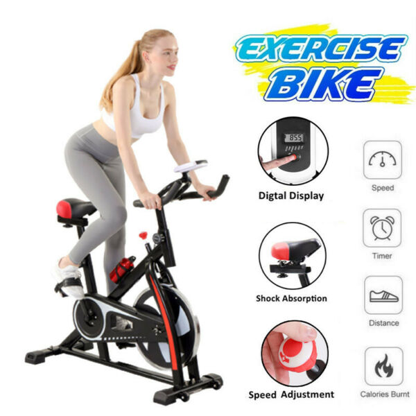 Stationary Exercise Bicycle Indoor Bike Cardio Health Cycling Home Fitness US $122.89