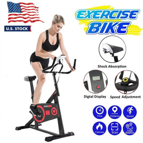Exercise Bike Indoor Cycling Stationary Bicycle Cardio Fitness Workout US $109.99