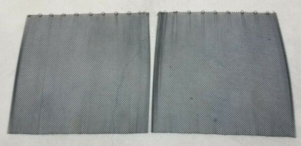Fireplace Black Steel Wire Mesh Replacement Curtain Screen 2 Panels 27quot;x25.5quot;