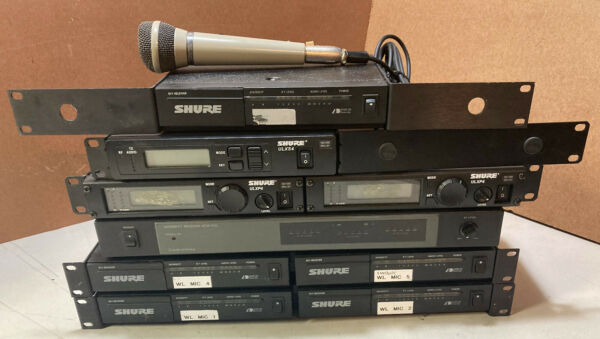 Lot of 10 Shure Mic Receiver Rack Mountable SC4 ULXP4 ULXS4 Diversity PARTS $320.00