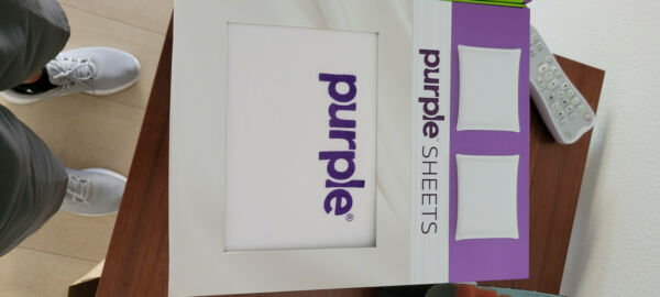 Purple Bed Queen Sheets with free eye sleeping masks $45.00