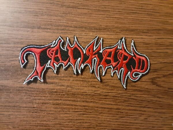 TANKARDIRON ON RED AND WHITE EMBROIDERED PATCH $6.00