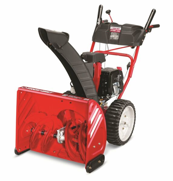 Troy Bilt Storm 2460 208cc Electric Start 24 Inch Two Stage Gas Snow Thrower