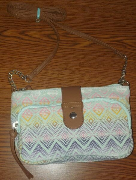 Cute Small Crossbody Purse Colorful Turquoise $12.00