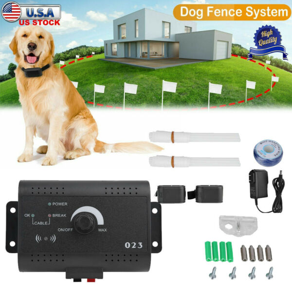 Wireless Electric Dog Fence Pet Containment System Shock Collars For 2 Dogs US