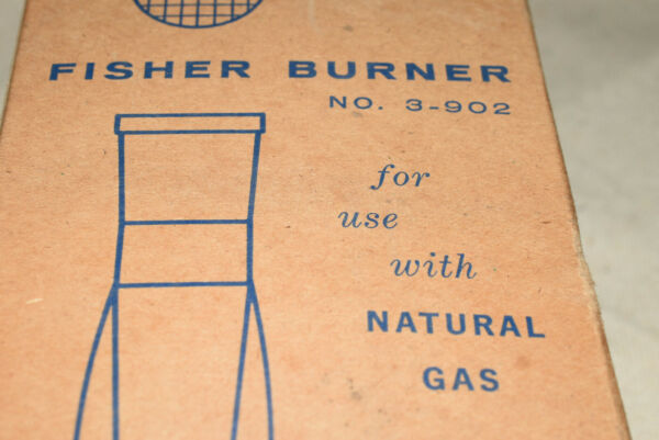 FISHER CHROME NATURAL GAS BUNSEN BURNER 3 902