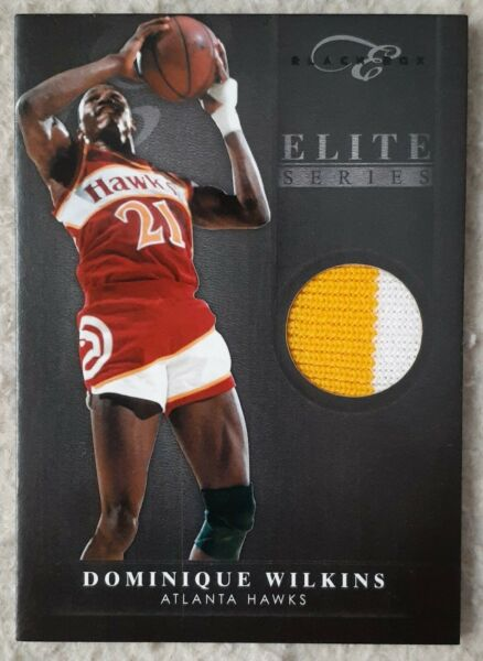 2011 12 Elite Black Box Elite Series 2 Color Patch Dominique Wilkins 20 25