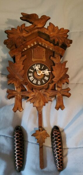 Vintage German Black Forest Musical Cuckoo Clock New in box