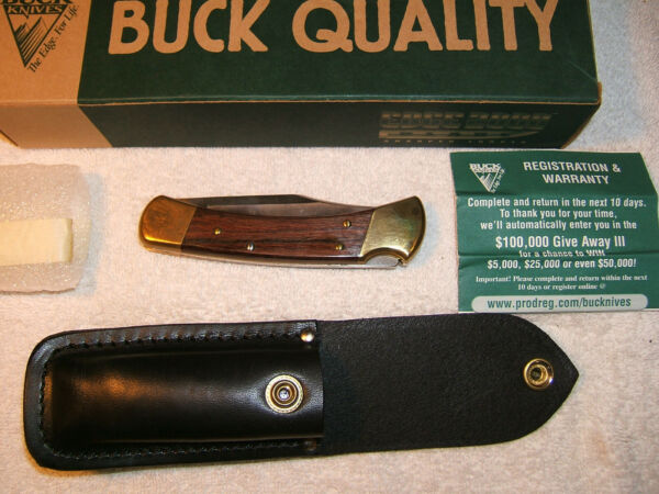 BUCK FOLDING HUNTER B110 FOLDING KNIFE NOS NEW OLD STOCK ** CATALOG #9210
