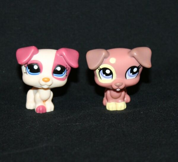 Lot of 2 Littlest Pet Shop JACK RUSSELL TERRIERS #1200 #1475 dog dogs terrier $10.95