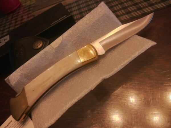 Buck 110 limited edition white Bone knife #289 of only 500 made. Nice.