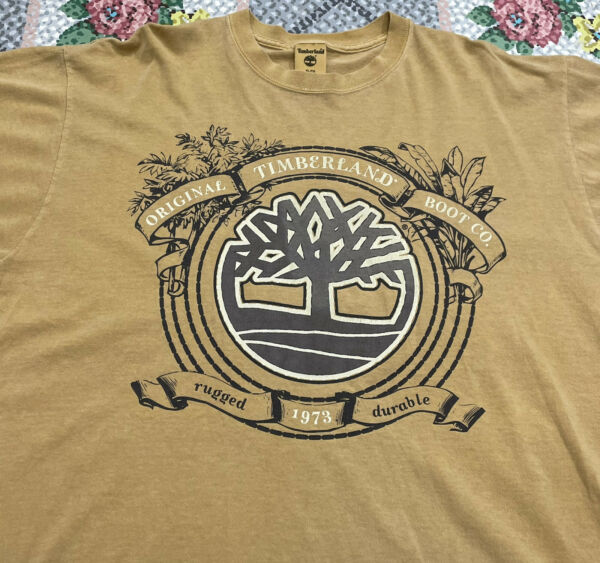 Vintage 90s TIMBERLAND Original Boot Co. Wheat T Shirt Men#x27;s XL Graphic Tee $27.64