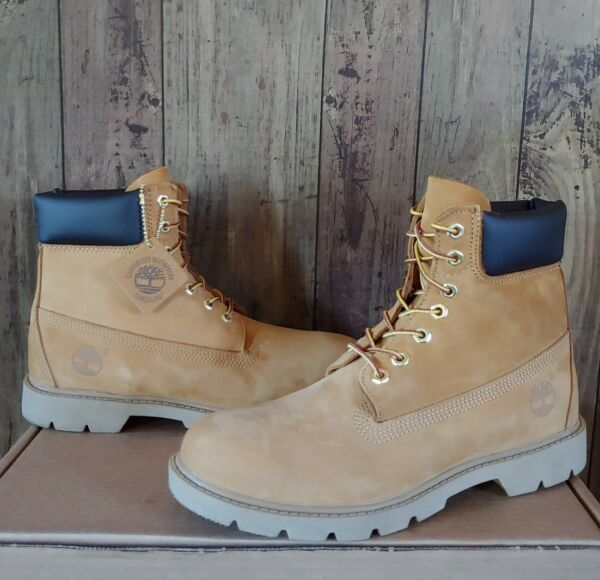 Timberland Mens 6quot; Basic Waterproof Work Boots Sz 8.5 Wheat 18094 Padded Collar $110.00