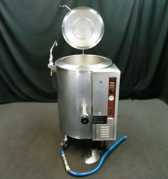 MARKET FORGE 20 GALLON GAS STEAM JACKETED KETTLE F 20GL CROWN GL 20E $4500.00