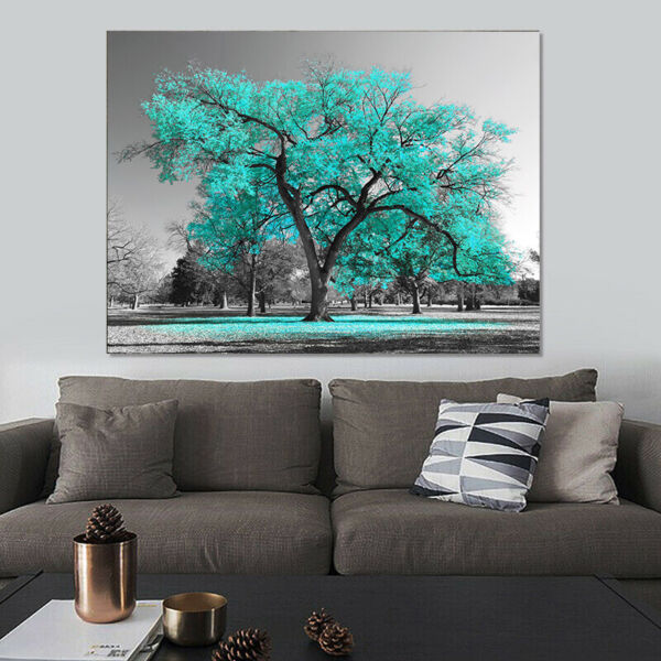 Large Tree Canvas Modern Wall Art Oil Painting Picture Print Unframed Home Decor $19.95