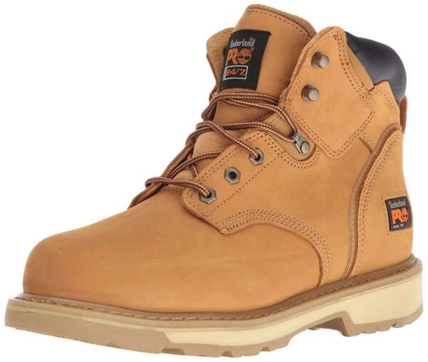 Timberland Mens Pit Boss 6quot; Leather Steel toe Lace Up Safety Wheat Size 9.5 $64.46