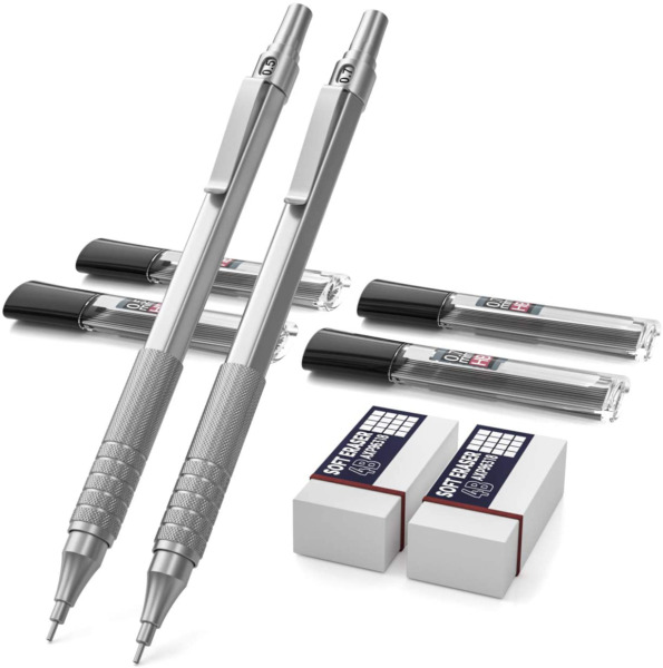 Nicpro Mechanical Pencils Set Metal Automatic Drafting Pencil 0.5 mm and 0.7 mm $16.77