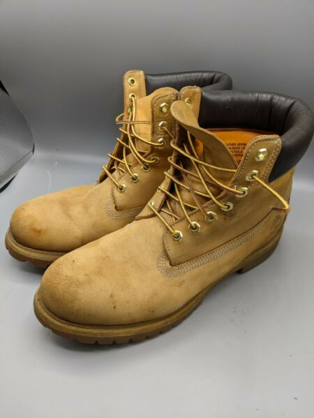 Timberland 10061 Mens Boots Size 11 M Classic Light Brown Suede Leather EUC $59.99