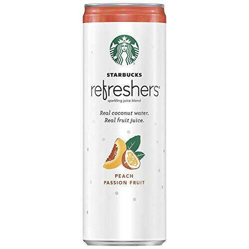 Starbucks Refreshers Coconut Water Peach Passion Fruit 12 Fl Oz Pack of 12