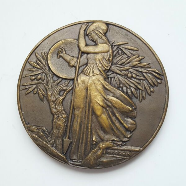 FRENCH MEDAL 1957 WOMAN MARIANNE . BY R. CORBIN 50mm #2543