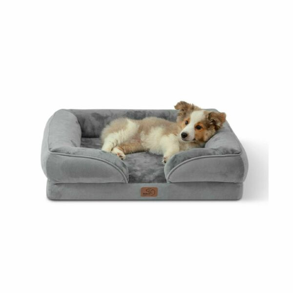 Bedsure Orthopedic Dog Bed Bolster Dog Beds for Medium Dogs Foam Sofa with... $55.99