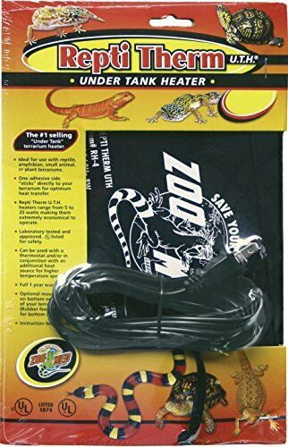 ZOO MED LABORATORIES INC Reptitherm Under Tank Heater 8X18 INCH 24W $17.76