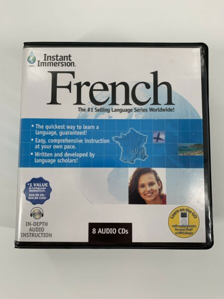 Instant Immersion French 8 Audio CDs $9.95