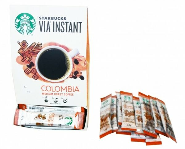 LAST CALL Starbucks Colombia Via Instant Coffee 50ct BEST BY 07 21 2021