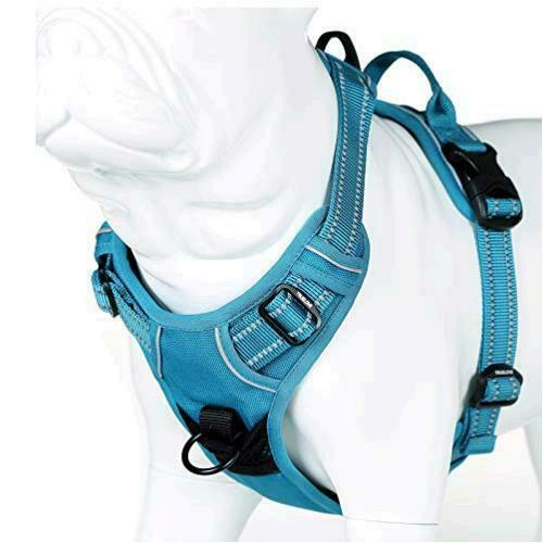 juxzh Truelove Soft Front Dog Harness .Best Reflective No Pull Teal Blue Size $9.99