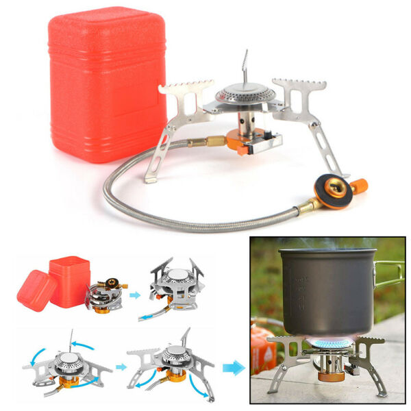 Outdoor Picnic Gas Burner 3500W Portable Backpacking Camping Hiking Mini Stove $17.99