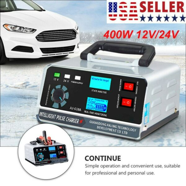 400W Heavy Duty Smart Pulse Car Battery Charger Automatic Repair For Car Van USA $41.79
