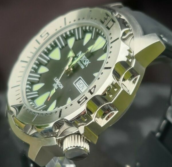 Automatic Sea Monster Watch Norsk Norway Diver Seiko NH36a movement. Black $89.00