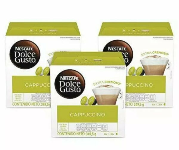 Nescafe Dolce Gusto Cappuccino Coffee 3 Boxes 48 Capsules total Best Buy 07 2021
