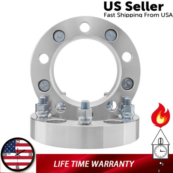 *2PC 5x5.5 Wheel Spacers 1quot; For Dodge Ram 1500 Ford F 150 Bronco Jeep 1 2quot; Studs $36.80
