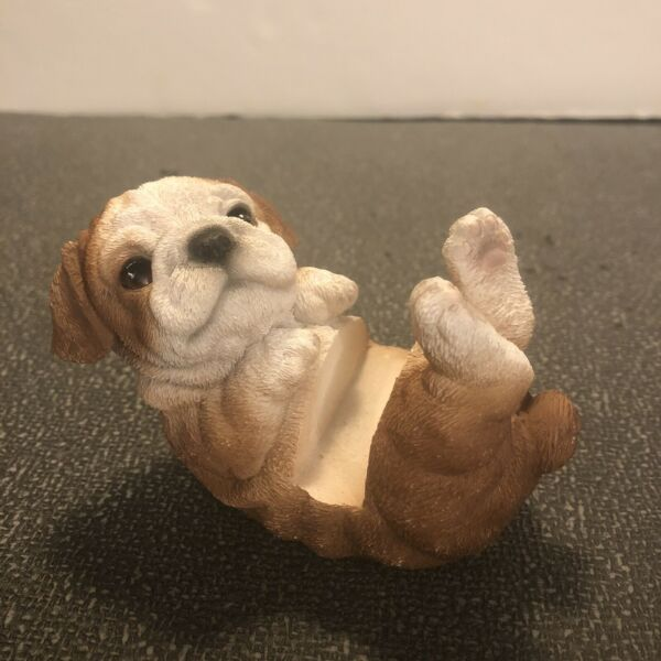 English Bulldog Puppy Dog Business Card Note Holder Office Desk Hot Ant Resin $8.00