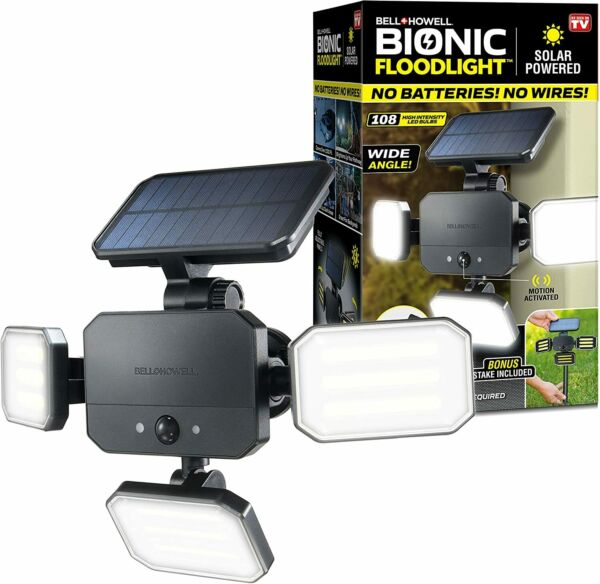 Bell Howell Bionic Floodlight Motion Sensing Outdoor Light with Remote Control $29.99
