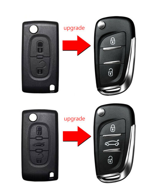 2 3 Button Remote Key Case Blade Shell For PEUGEOT 207 307 308 407 3008 5008 807